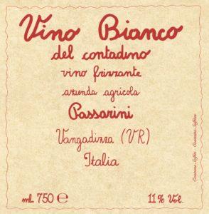 Etichetta Vino Bianco del Contadino